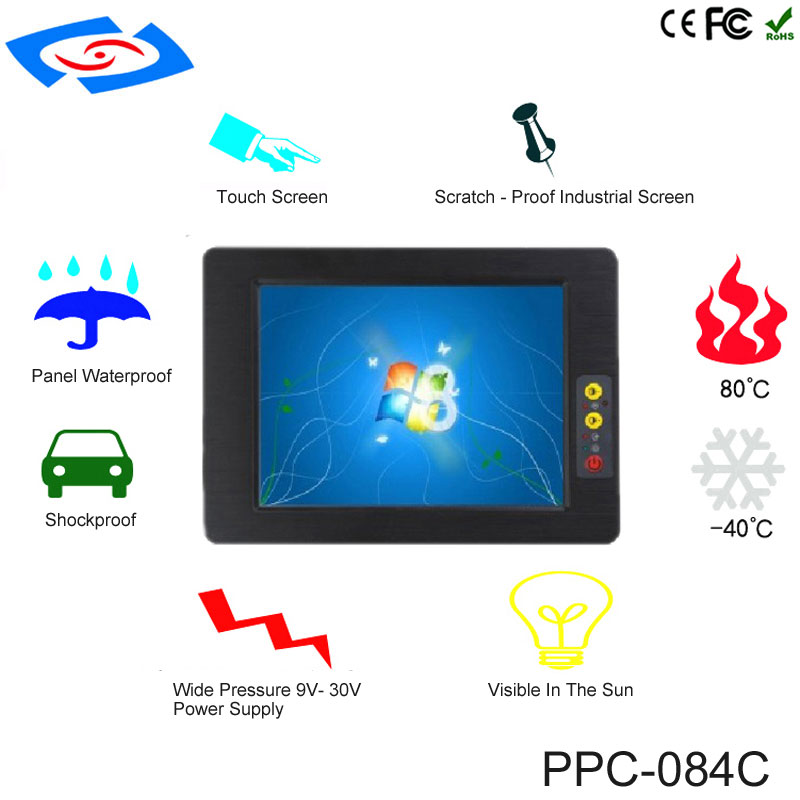 2018 New Arrival 8.4 Inch Industrial Panel PC With Touch Screen Dual Core Processor Cheap Price AMT Resistive Tablet PC