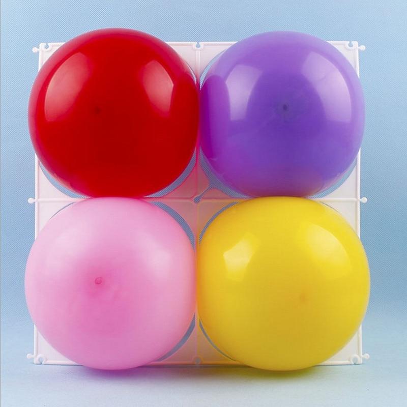 """Helium Balon Baloons 4 Löcher Ballon Wandgitter Ballons Modellierung Kunststoff Für 10 """"Latex Zubehör Geburtstag Party Ball Decor"""