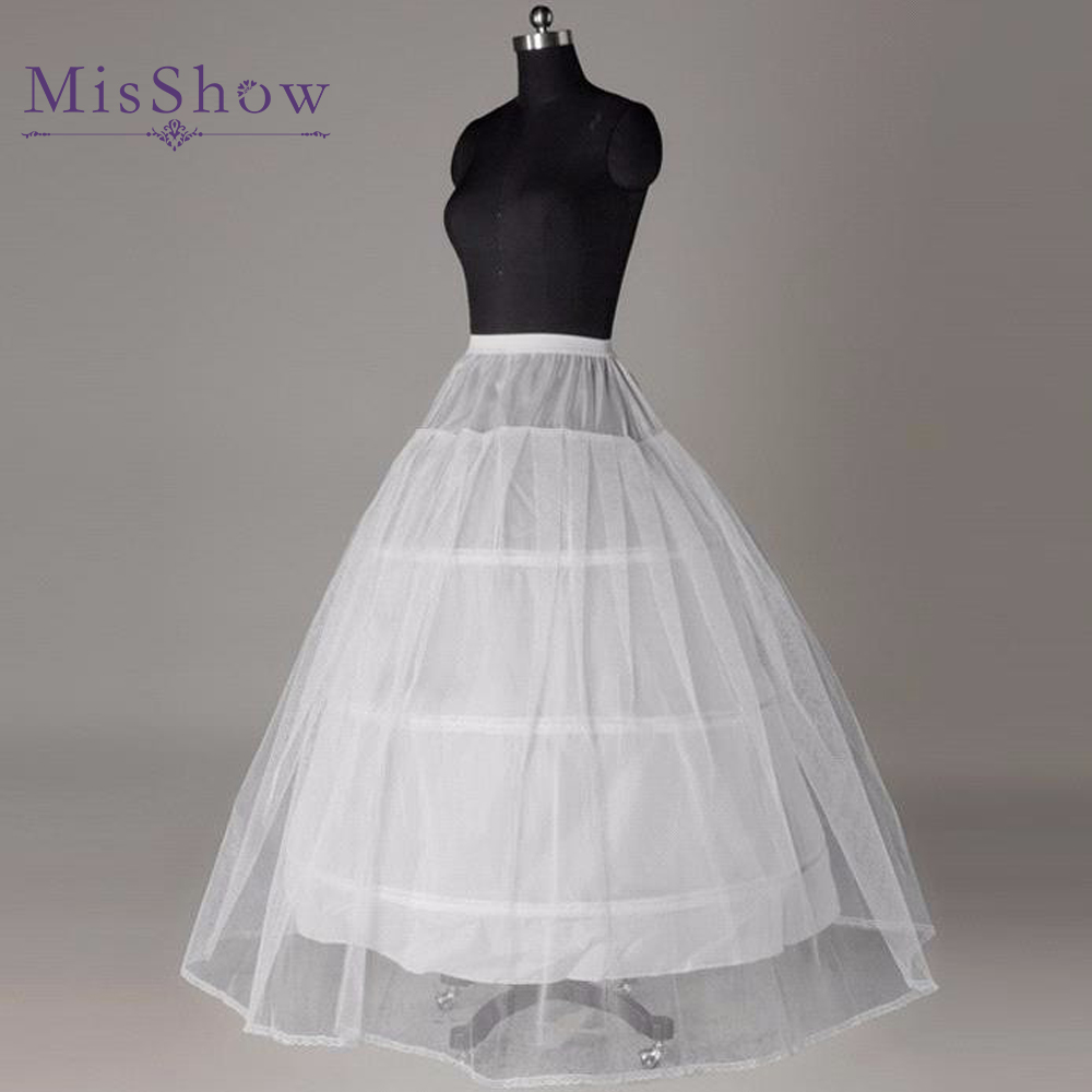 In stock hot sale cheap price white 3 hoop petticoat for for Wedding dress for sale cheap