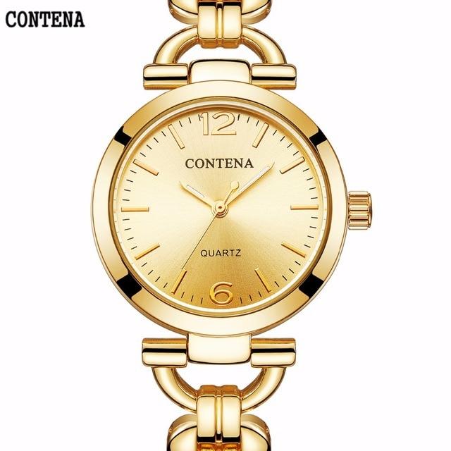 Golden Women Bracelet Watch 2018 New Fashion Luxury Brand Quartz Ladies Wrist Wa