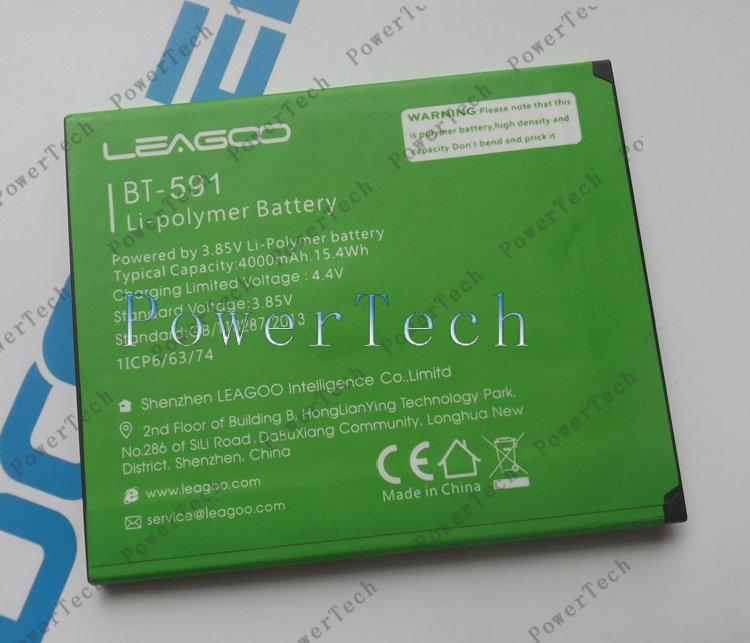 Neue kiicaa power BT-591 Batterie Für 5,0 inch leagoo kiicaa power Smart Telefon