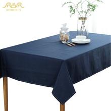ROMORUS Einfarbig Wasserdicht Tischdecken Tafelkleed Marineblau Grau Beige Tischdecken Rechteckigen Hochzeit Tischdecken