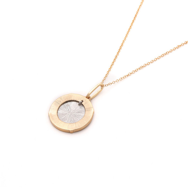 Gold Round Coin Pendant Necklace