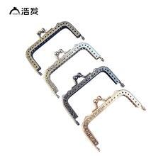 HAOFA 8,5 CM 4 farben 10 stücke Metall Tasche Kupplung Geldbörse Rahmen Kuss Schließe Farbe Optionen Zubehör für Taschen fabrik Direkt Verkauf