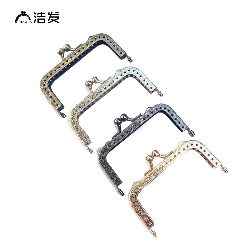 HAOFA 8.5CM 4colours 10pcs Metal Bag Coin Clutch Purse Frame Kiss Clasp Color Options Accessories For Bags Factory Direct Sale