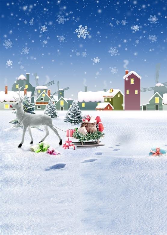 5x7ft Children Christmas photography backdrops snow winter cartoon backgrounds vinyl digital cloth for photo studio S-1002 фаворит пират ft 1002 t