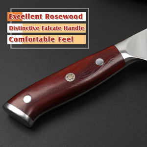 """Image 3 - XINZUO 10"""" inch Slicing Knife Japan Damascus Steel Cleaver Meat Knife Rosewood Handle Pro Sashimi Sushi Chefs Knives"""