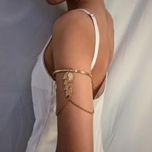 2019 Boho Gold/Silver Leaves Upper Arm Bracelet for Women Love Retro Bracelet Bangle Jewelry Female Charms Bracelet Cuff Femme pdrh030 female retro bracelet