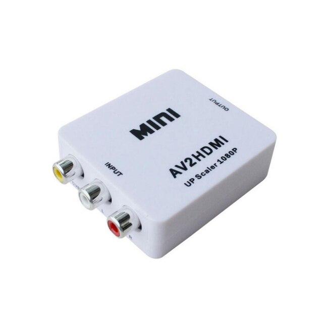 AV محول محول البسيطة AV إلى HDMI HD تحويل محول تحويل الصوت الفيديو كابل CVBS ل HDTV مع كابل يو اس بي