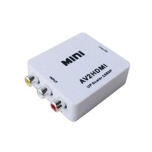 Image 1 - AV adattatore convertitore mini AV a HDMI HD adattatore del convertitore convertitore audio video cavo CVBS per HDTV con il cavo USB