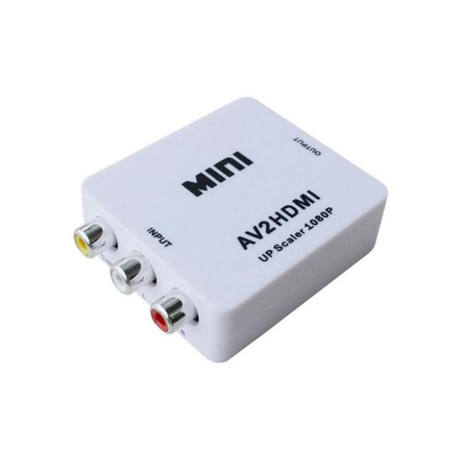 AV adattatore convertitore mini AV a HDMI HD adattatore del convertitore convertitore audio video cavo CVBS per HDTV con il cavo USB