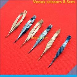 Aço inoxidável/liga de titânio tesoura oftálmica microcirurgia 8.5cm venus tesoura ferramentas cirúrgicas animal ferramenta experimento