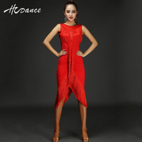 2016New Latin Salsa Tango Rumba Cha Cha Ballroom Dance Dress Skirt Dance Leopard Red Black Clothes