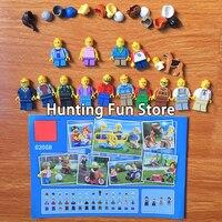 258 Pcs 02058 Compatible Legoe City 60134 Fun In The Park Set Mini Minifigs Figures Pack