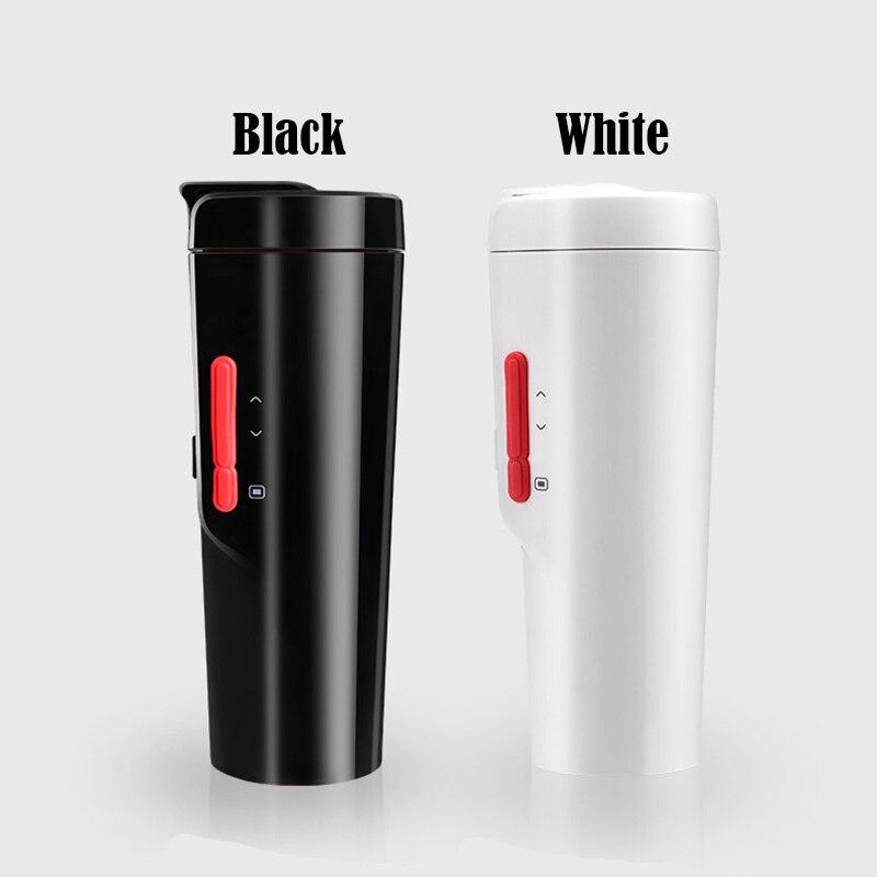 350 мл Автомобильная подогревающая чашка с регулируемой температурой и цифровым дисплеем, электрический чайник для кипячения автомобиля, черная Автомобильная чашка 70 Вт - 2