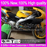Fairing For Aprilia RS250 Yellow black 95 97 RS 250 RSV 8B7 RSV250 95 96 97 1995 1996 1997 RSV250R RS 250 Yellow blk +decal