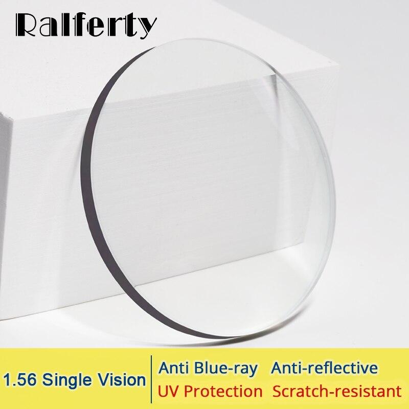Ralferty 1,56 Anti Blau Licht Brillen Linsen Strahlung Schutz Optische Myopie Objektiv Klar Dioptrien Dünne HMC 0-4.0D