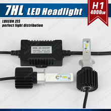 1 Set H1 50W 8000LM G7 LED Headlight Kit LUMILED LUXEON ZES 16LED SMD Chips Fanless 6500K Xenon White Driving Fog DRL Lamp Bulb