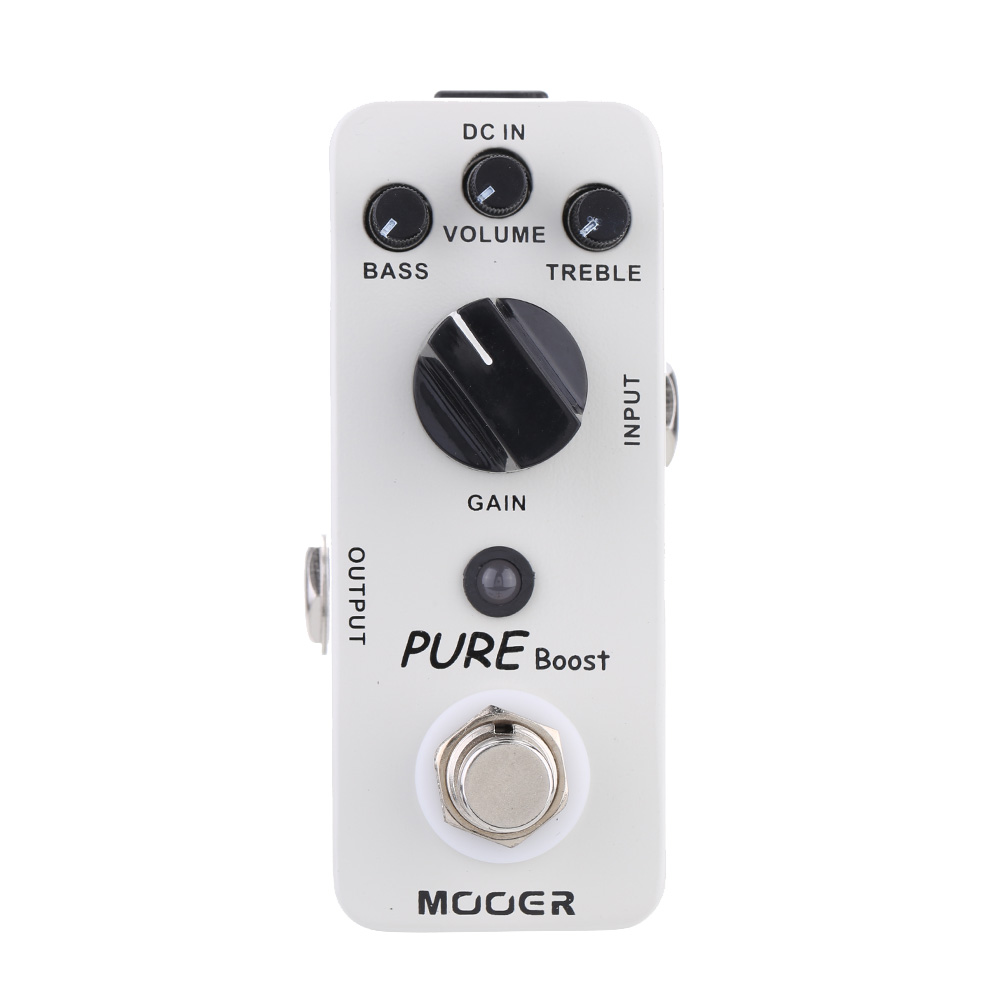 Mooer 2 Band EQ Pure Boost Aluminum Alloy Electric Guitar Effect Pedal True Bypass 20 dB Clean Boost mooer mini ensemble king electric guitar effect pedal true bypass pure analog chorus sound
