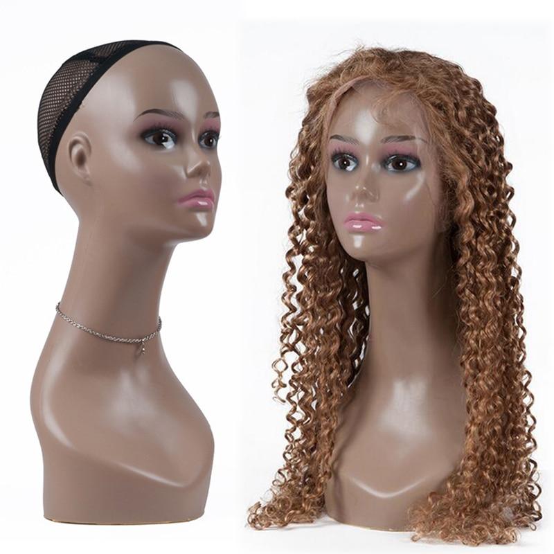 Luxury Display Head Black Mannequin Head Dummy Shop Window Stand Headphones Wigs