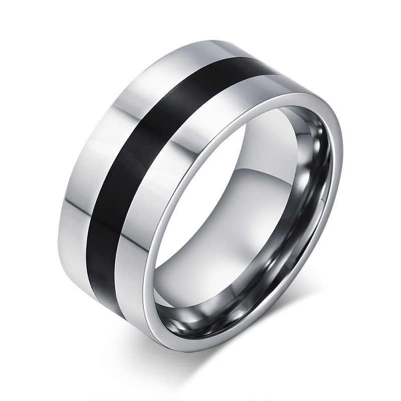 2019 new retro grinding rubber men's ring 100% titanium carbide couple ring men's jewelry wedding ring classic boyfriend gift