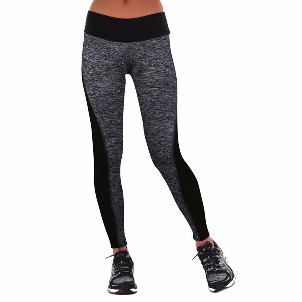 Trend Elastiska Kvinnor Slimming Buksor Tight Leggings Mid Midja För - Sportkläder och accessoarer