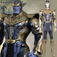 Avengers Infinity War Thanos Costume Carnival Halloween Cosplay Costume Adult Men Cosplay Thanos Battle suit helmet