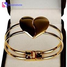 Cheap Bangle Bracelet New Fashion Lady Elegant Heart Bangle Wristband Bracelet Cuff Bling Gift Magnetic Bracelet #501