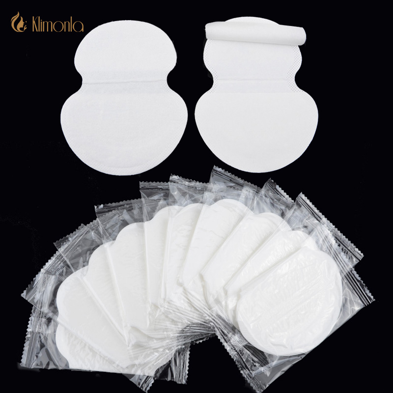 50Pcs=25packs Summer Disposable Underarm Armpit White Sweat Pads New For Women Mens Clothing Absorbing Pads For Armpits