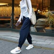 BELIARST2018 新着用ハーレムパンツカシミヤパンツ女性カジュアルハイウエストブルマ足ニットウールロングニンジンパンツ