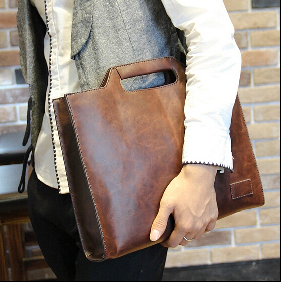 Fashion Designer High Quality Men's Bags Vintage Man Portfolio Male Case For Ipad Business Briefcase Handbags Tote  B00008