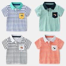 Summer New Kids Boys Striped Polo Tees And Polos Short Sleeve Boys Polo Shirt Kids Polo Shirts Clothing стоимость