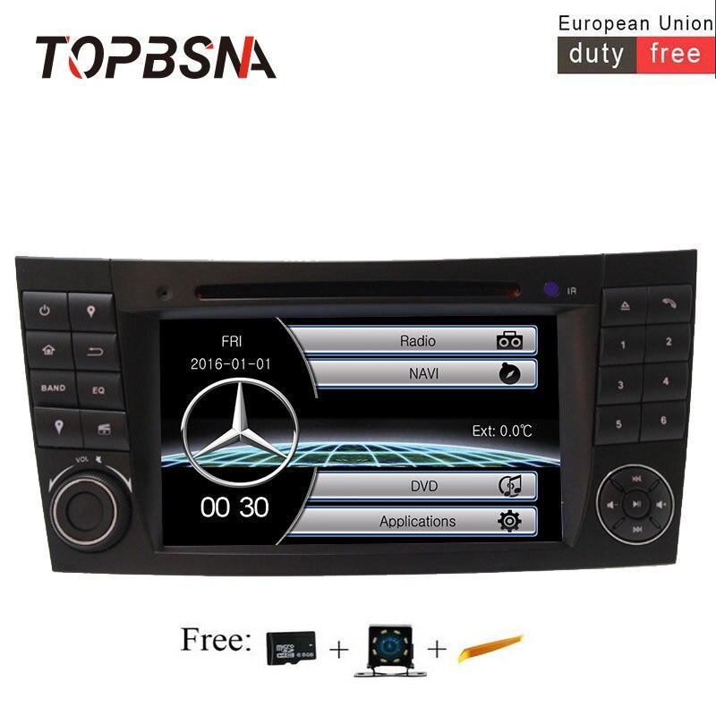 TOPBSNA 7 pouces 2 din Voiture lecteur dvd Pour Mercedes Benz E-Classe W211 E200 E220 E300 E350 GPS Navigaiton 8 GO Carte SD Avec Carte RDS