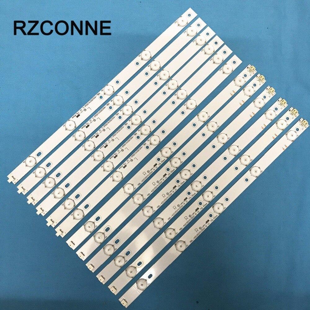 6set 40'' 775mm*17mm 10leds LED Backlight Lamps LED Strips w/ Optical Lens Fliter for TV Monitor Panel New