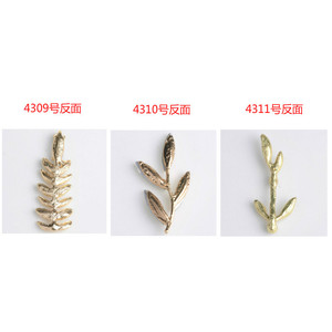Image 5 - 50pcs/lot Multi style Fashion Alloy Gold Color Crystal Leaf Branch (no hole) Charms For DIY Jewelry Handmade Making