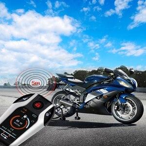 Image 2 - Due Vie di Allarme del Motociclo Dispositivo Anti furto Sistema di Scooter Furto Con Scasso Allarme a Vibrazione A Distanza di Inizio del Motore 5meter Auto blocco 5