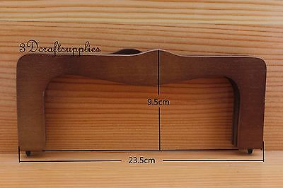 dark brown wooden purse frame 9 1/4 inch x 4 inch (purse making supplies) M67