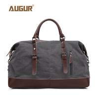 AUGUR canvas Travel Bag Large Capacity Men Hand Luggage Duffle Bags Weekend Bags Women Multifunctional male leather handbags