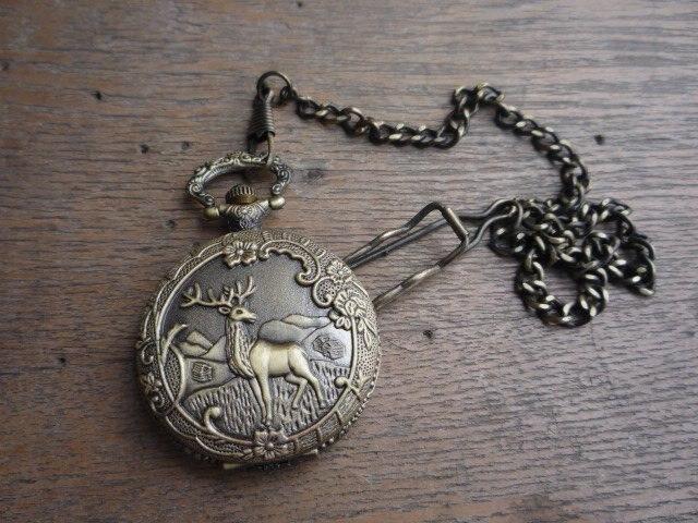 Rare ancienne dynastie Qing horloge en laiton royal en verre \ montre de poche mécanique, peut fonctionner, avec couvercle et marque, livraison gratuite