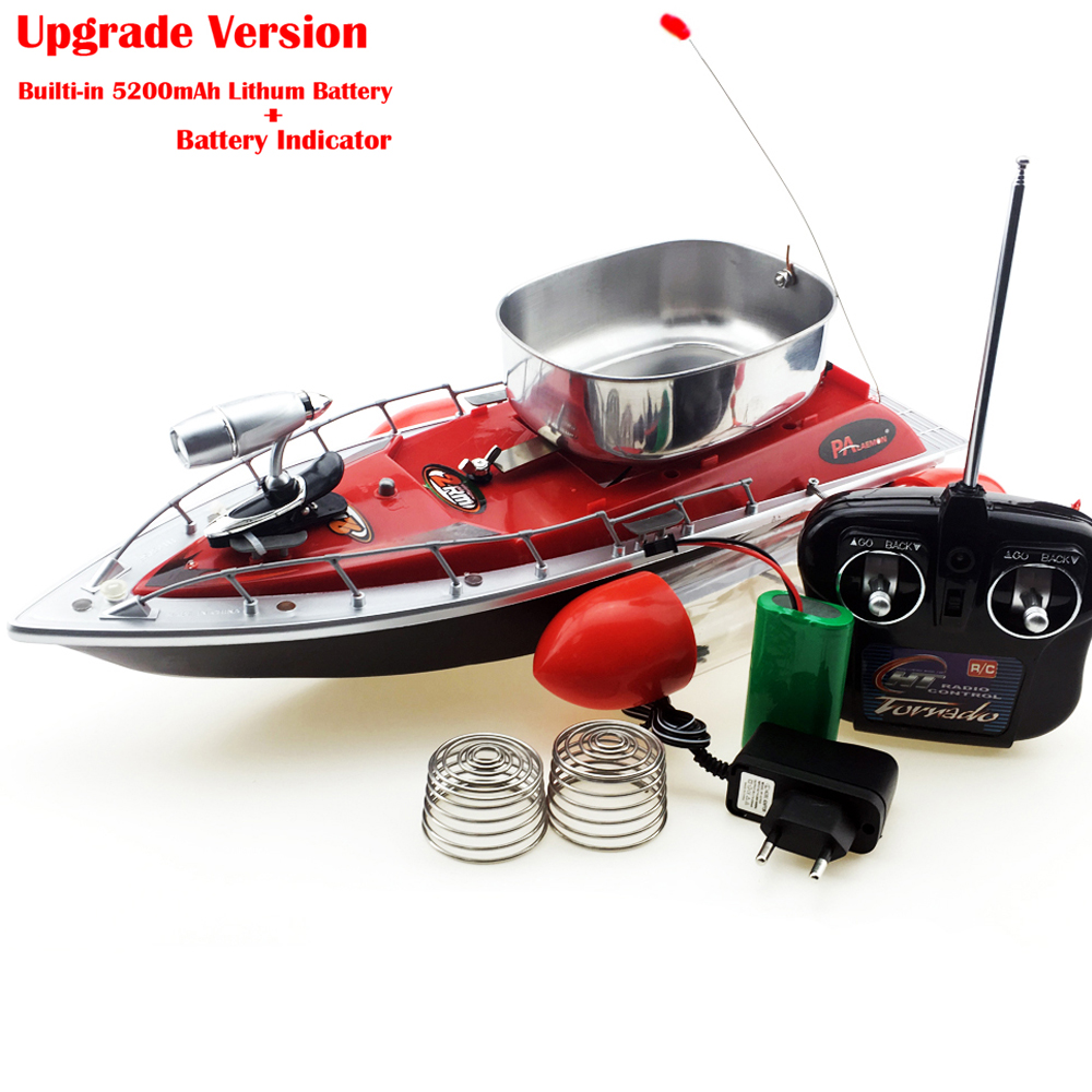 Upgrade 80-300M Long Range RC Bait Boat Remote Control Boat Fishing Lure Boat Built-in 5200mAh Lipo Blue/Red/Green In Stock mini fast electric fishing bait boat 300m remote control 500g lure fish finder feeder boat usb rechargeable 8hours 9600mah