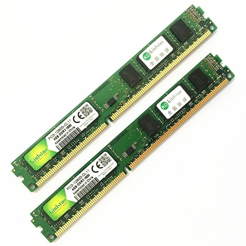 Kinlstuo Rams Ddr3 8gb 4gb 2gb 1600MHz/1333MHz  PC12800/10600 Desktop Memory New