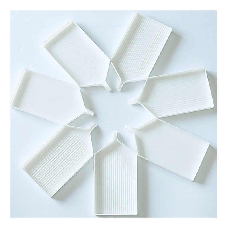 5 pcs Branco Caixa de Ferramenta DIY Rhinestone Diamante Flor Redonda/Triangular Bandeja De Plástico/Placa Para A Arte Do Prego DIY decoração