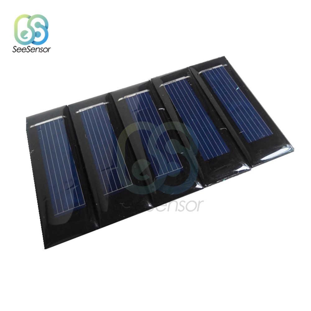 Panel Solar 0,5 V 6V 9V Mini Sistema Solar DIY para cargadores de batería de teléfono celular portátil 0,05 W 0,6 W 1W 1,5 W
