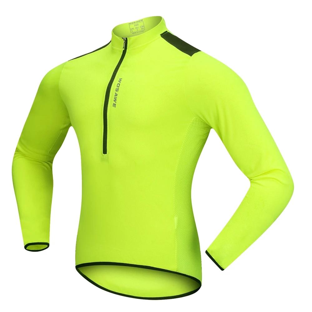 Mens Cycling Jersey Half Zipper Long Zipper Tops Bike Bicycle MTB Sport Clothing