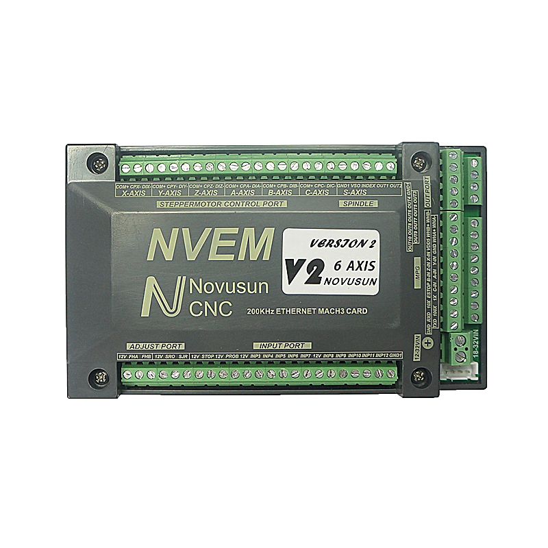 CNC NVEM Mach3 Control Card 200KHz Ethernet Port 3 4 5 6 Axis