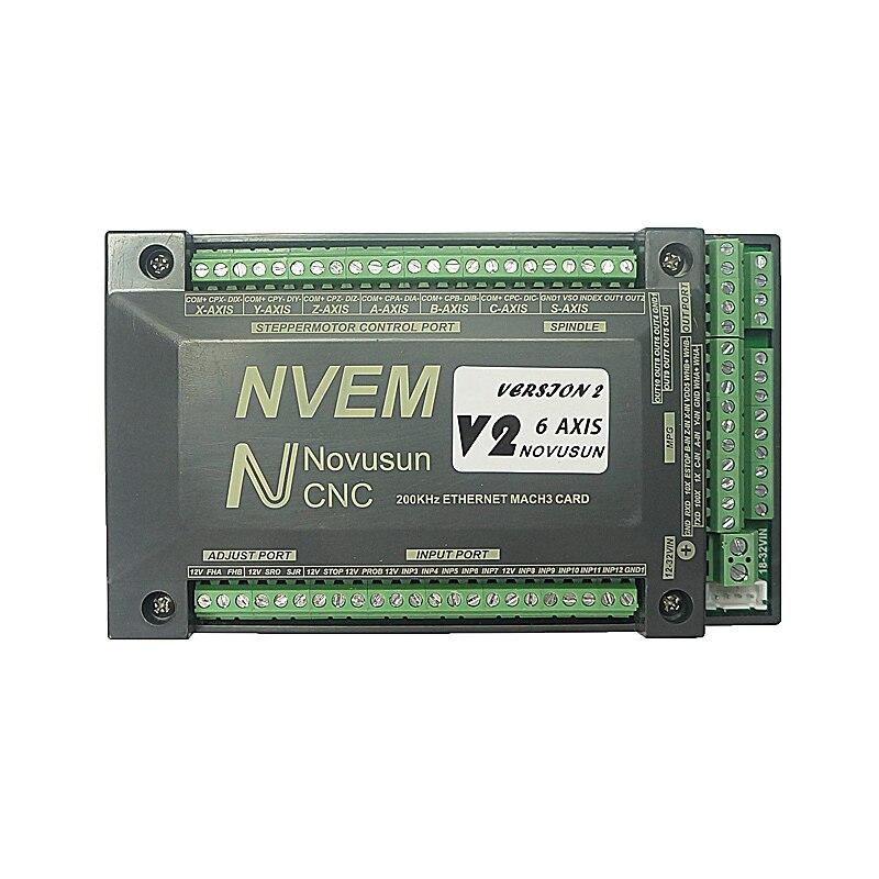 CNC NVEM Mach3 Carte De Contrôle 200 KHz Port Ethernet 3 4 5 6 Axes