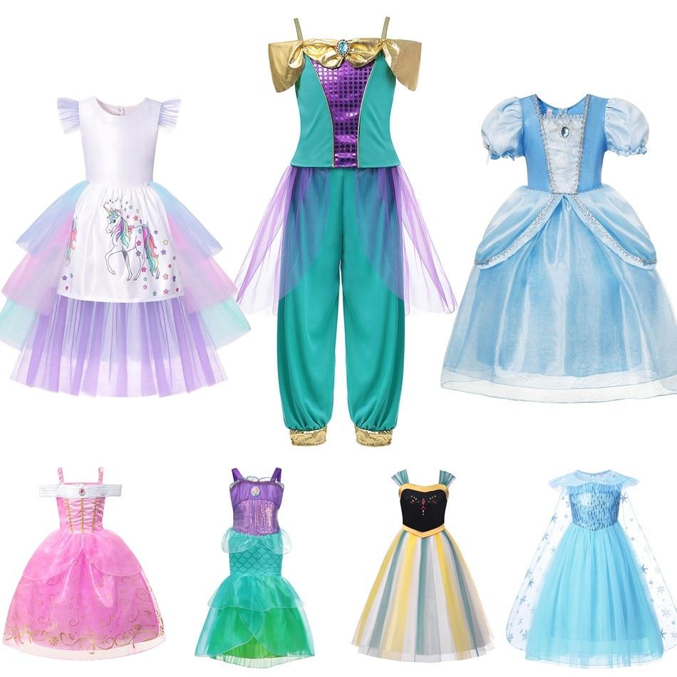 1122626bf Disfraz de princesa Jasmine para niñas muaby niños de lujo Elsa Anna Moana  Cenicienta Aurora Ariel ...
