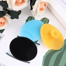 Hot !!!1 Pcs Soft Silicone Facial Cleansing Brush Face Washing Exfoliating Blackhead Brush Remover Skin Scrub Pad Tool(China)