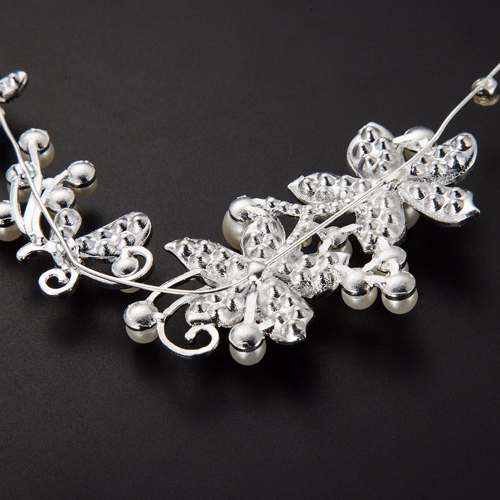 HTB1zCNTOpXXXXXxXXXXq6xXFXXXG Luxury Silver Rhinestone Pearl Jewel Flower Hair Accessory For Women