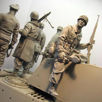 1/16 resin figure soldier model third paratrooper division World War II soldier gk hand to do white model military 139